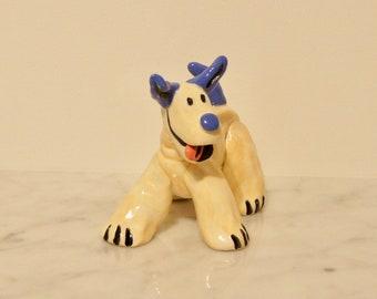 Garden Clay Dog-Freddy!