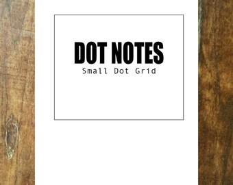Dot Notes Booklet Small MINIMALIST FONT Field Printable Digital Download PDF Midori Planner