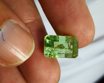 7.4 CT Faceted Tourmaline - Lime GREEN - 12.2 mm • From Afghanistan 1557
