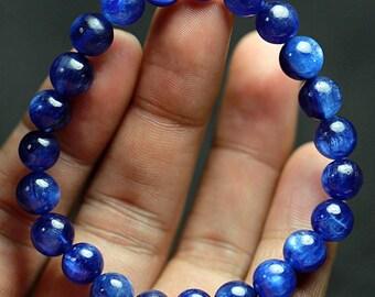 111.1 ct Natural Beautiful Deep Blue Kyanite Crystal Bracelet  Bracelet 4248