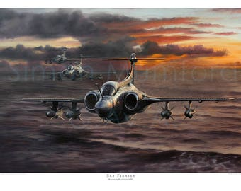 Aviation art print. Blackburn Buccaneer S.2B. Limited edition signed by  artist. RAF. Airplane art. Present for him. Spitfire. Giclee. 2eac29daa