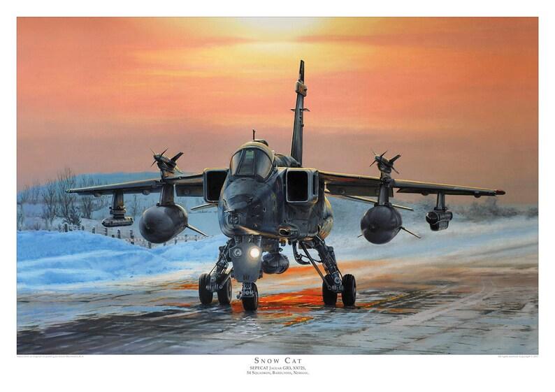 Aviation art print. SEPECAT Jaguar GR3. Limited edition signed image 0
