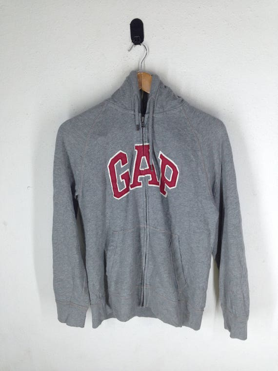 Vintage GAP Hoodies Sweatshirt Big Logo Size M Vintage GAP Hoodie Gap Vintage Casual Embroidered Gap Pullover