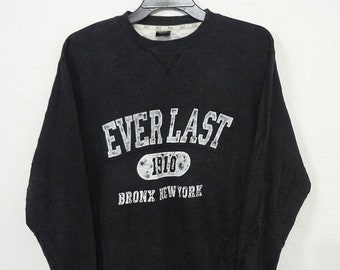 Everlast Vintage 90's Hoodie L Big Size Spell Out Bronx, NY