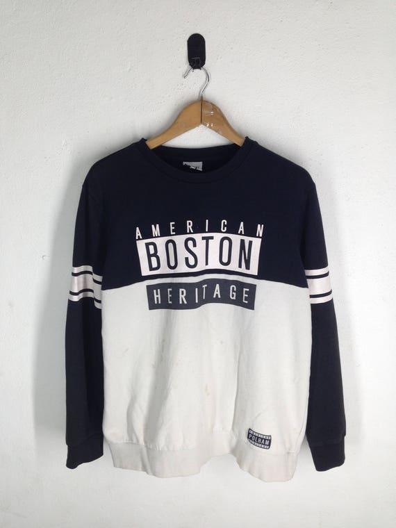 Vintage Polham American Boston Heritage Swetshirt Rap Etsy