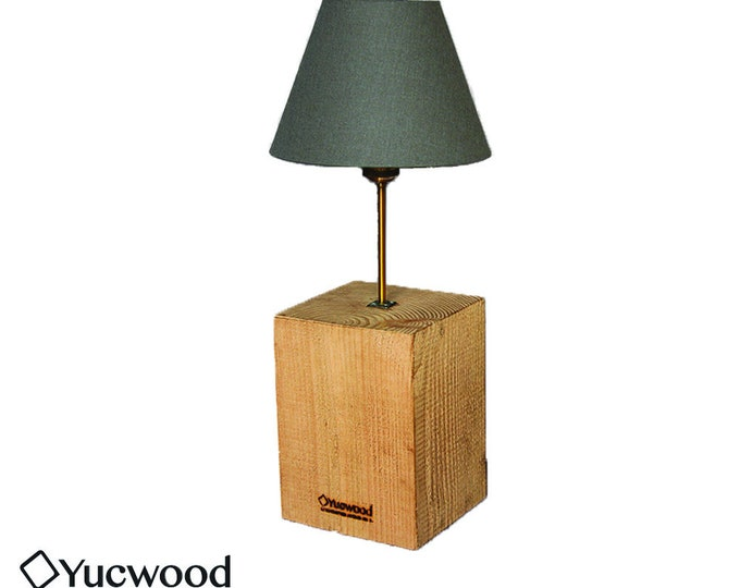"Wooden room lamp, wood desk lamp, ""Cube Maxi"", handmade, industrial night lamp"