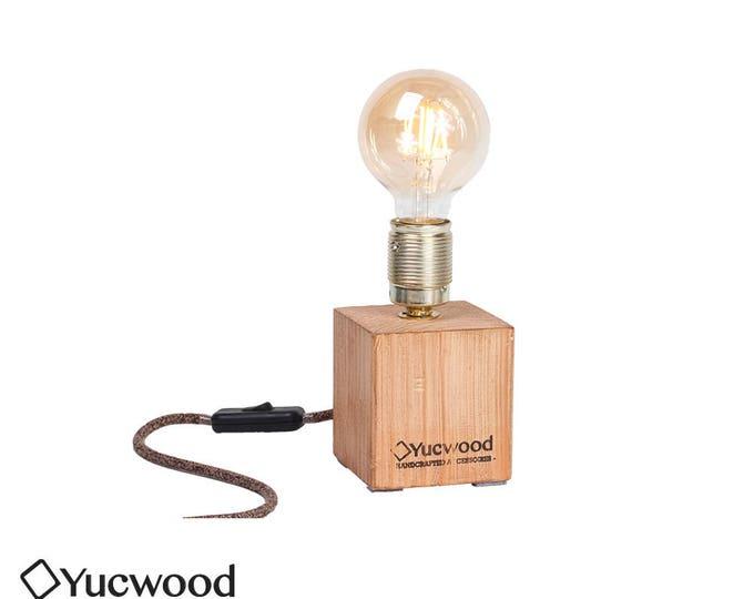 "Edison desk lamp, Night lamp, ""Cube One Mini"", industrial lamp, handmade"