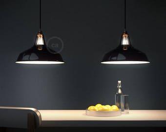 "Pendant lamp, ""Harbour pendant"", metal lighting, Bar lighting, industrial, minimalist Lamp, Loft, (includes 1 Led filaments)"