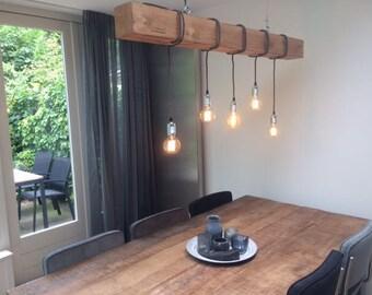 "Edison pendant lamp, ""Douglas"", wood lighting, Bar lighting, industrial, minimalist lamp, Loft,"