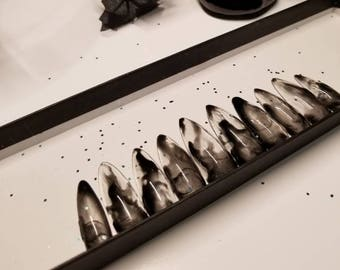 Black drip /smoke press on nails