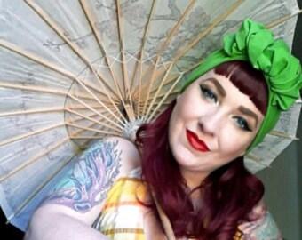 1940's Open Style Ready to Wear Turban - Rolled Knot - Pre Tied Turban Headband - Head Wrap - Vintage Fashion Turban