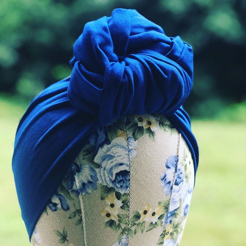 1940s Hairstyles- History of Women's Hairstyles Full Coverage Rose Knot Turban - 1930s Retro Style Hair Accessory - Vintage Fashion Turban - Hair Scarf - Head Wrap $37.89 AT vintagedancer.com