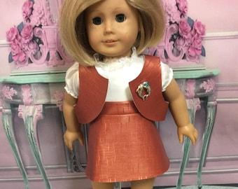 "Nylon Earrings Fits 18"" American Girl Doll X34 NO POSTS NEEDED Red Rhinestone"