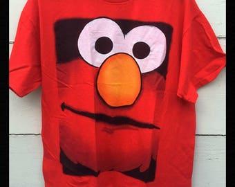 Vintage Elmo Sesame Street T-Shirt, Grunge ELMO t-shirt, skater ELMO t-shirt. red ELMO t -shirt