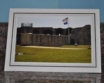 Double Framed Card - Old Fort Popham