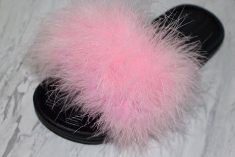 a235fbbb2 Fur Slides Slides Gifts for Her Faux fur slides | Etsy