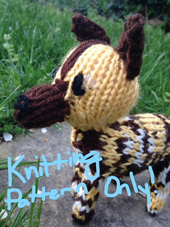 African Painted Dog Knitting Pattern Only Etsy