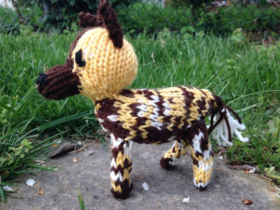 Knitted African Painted Dog Etsy