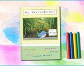 Sketchbook for Kids, Kids Travel Journal, Preschool Age, Toddler Age, Traveling with Children, Blank Pages I Love The Colors of Nature