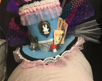 Mini Alice in Wonderland inspired Top Hat Mad Hatter mini top hat