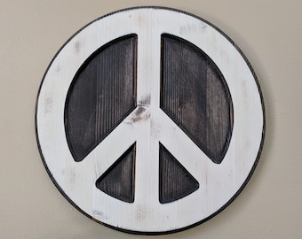 Wood Peace Sign, Peace Sign, Peace Sign Wall Art, Hippie Peace Sign