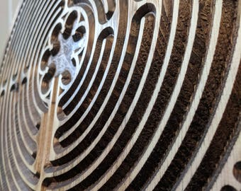 Labyrinth, Wood Labyrinth, Finger Labyrinth, Meditation Finger Labyrinth, Meditation Tools