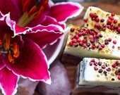 Pink Peppercorn Soap - Certified 100% Natural Pure Vegan Handmade Soap (Cold Process) | Bean and Boy Soap