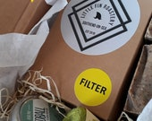 Little Box of Happiness: Gift for Gardeners   Gardeners Soap   Locally Roasted Coffee   Seeds + Twine   Limited Edition