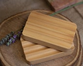 Wooden Soap Dish | Sustainable Hemu Wood | Draining and Eco-Friendly | Wide Grooves
