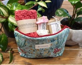 Pamper Me Pouch ~ Limited Edition ~ Handmade Soap + Handknitted Facecloth + Pumice Stone + Zip Pouch