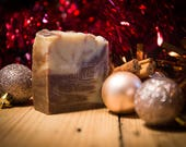 Cinnamon Swirl Soap - Festive Soap - Certified 100% Natural Pure Vegan Handmade Soap (Cold Process) | Bean and Boy Soap