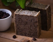 Peppermint & Coffee Exfoliating Soap - Gardener's Soap - Certified 100% Natural Pure Vegan Handmade Soap (Cold Process) | Bean and Boy Soap