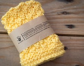 Handmade Knitted Facecloth | 100% Pure Cotton for Sensitive Skin | Individually handmade | Perfect for our natural handmade soap bars
