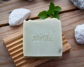 Pumice & Patchouli Soap - Certified 100% Natural Pure Vegan Handmade Soap (Cold Process) - Bean and Boy Soap