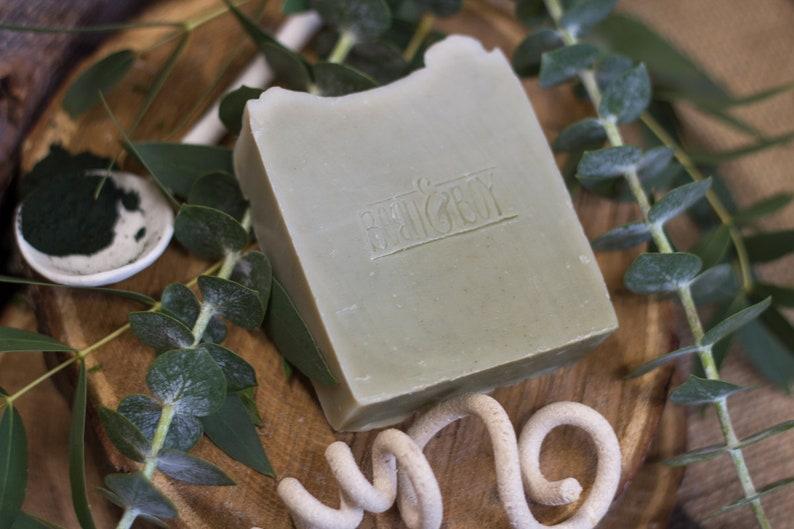Eucalyptus & Spirulina Soap   Certified 100% Natural Vegan image 0