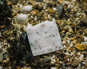 Spearmint & Seaweed Soap   Certified 100% Natural Vegan Handmade Soap (Cold Process)   Bean and Boy Soap