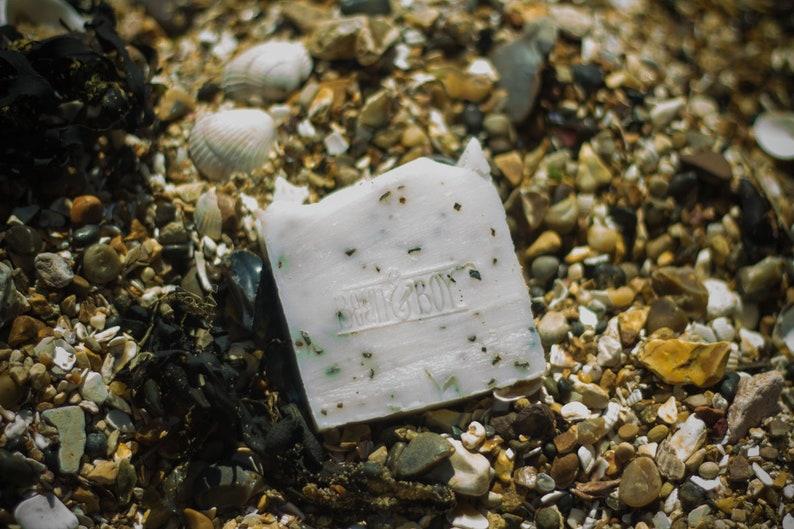 Spearmint & Seaweed Soap  Certified 100% Natural Vegan image 0