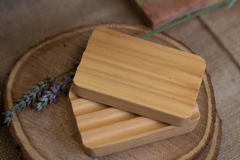 Wooden Soap Dish  Sustainable Hemu Wood  Draining and image 0
