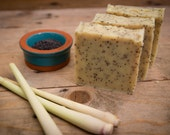 Lemongrass & Poppyseed Soap - Certified 100% Natural Pure Vegan Handmade Soap (Cold Process) | Bean and Boy Soap