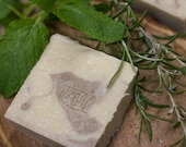 Spearmint & Rosemary SHAMPOO SOAP with Rosehip Oil and Apple Cider Vinegar | Safety Assessed | Bean and Boy Soap
