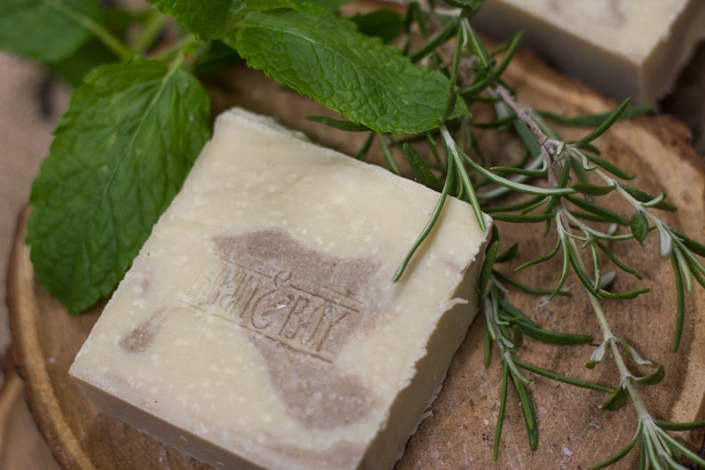 Spearmint & Rosemary SHAMPOO SOAP with Rosehip Oil and Apple image 0