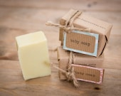 Top to Toe Baby Soap: Certified Natural Vegan Handmade Soap (Cold Process) | Fragrance Free Soap | All Natural Soap |  | Bean and Boy Soap