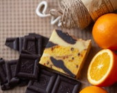 Orange & Cacao Soap | Safety Assessed and Certified 100% Natural Vegan Handmade Soap (Cold Process) | Bean and Boy Soap
