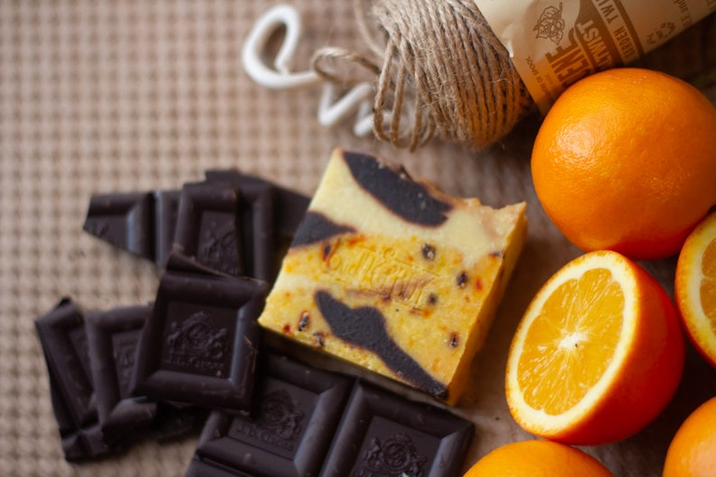 Orange & Cacao Soap  Safety Assessed and Certified 100% image 0