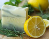 Lemon & Herb Soap | Handmade Soap for Hand and Body | Safety Assessed and Certified 100% Natural Vegan Handmade Soap | Bean and Boy Soap