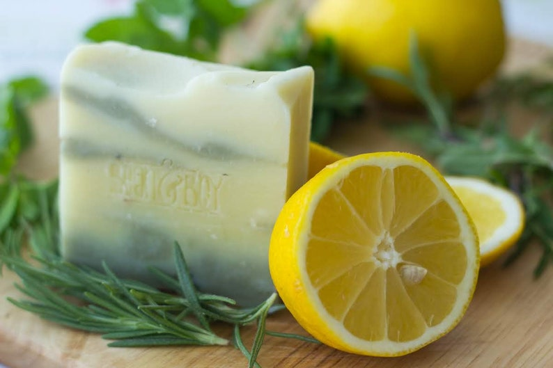 Lemon & Herb Soap  Handmade Soap for Hand and Body  Safety image 1