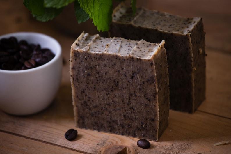 Peppermint & Coffee Exfoliating Soap  Gardener's Soap  image 0