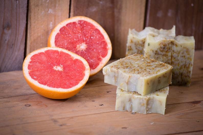 Grapefruit & Calendula Soap  Certified 100% Natural Pure image 0