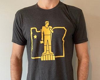 Gold Man T-shirt - Unisex Cut - Black & Gold