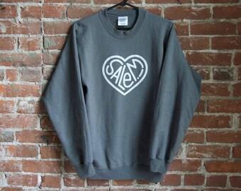 Heart Salem! Sweatshirt - Gray
